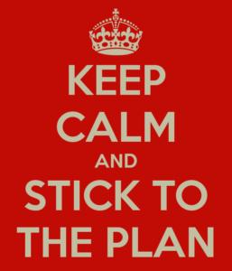 Stick to the plan! Fare un piano e seguirlo